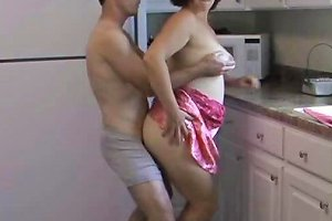 Mature Couple Good Times In Kitchen Free Porn Df Xhamster